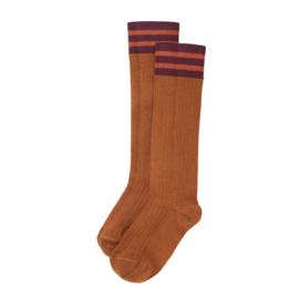 Mingo | Knee Socks | Caramel Plum