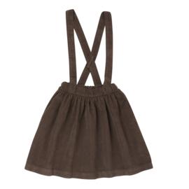 Blossom Kids | Suspender Skirt | Dark Chocolate