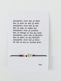 Papierpleziertjes | Armbandje 2 | Voor wat je deed