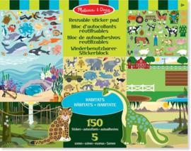 Melissa & Doug I Stickerboek met herbruikbare stickers | Habitats