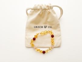 Grech & Co   Baltic Amber   Children's Bracelet   Goddess Light