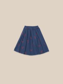 BoboChoses | Umbrellas All Over Skirt | Blue Indigo