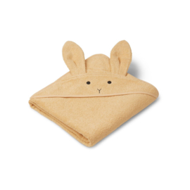 Liewood | Augusta hooded towel | Rabbit smoothie yellow