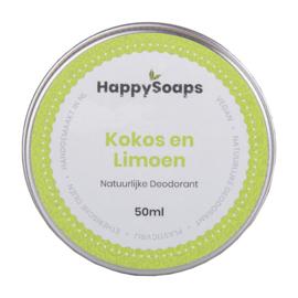 HappySoaps | Natuurlijk Deodorant | Kokos + Limoen