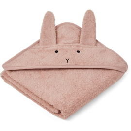 Liewood | Albert Hooded Towel | Rabbit  Rose