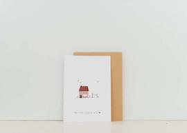 Kaart | Nadine Illustraties | Welcome little girl