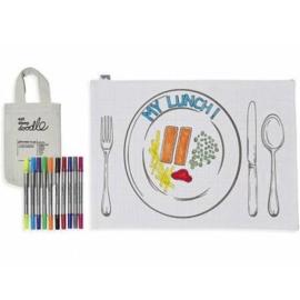 Eat Sleep Doodle 'placemat Mealtime Fun