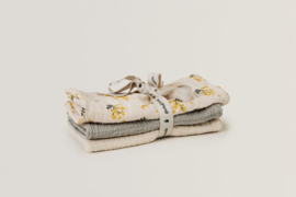Garbo & Friends | Mimosa Muslin Burp Cloth 3 set