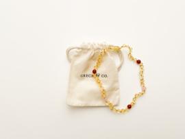 Grech & Co | Baltic Amber | Children's Necklace | Goddess Light