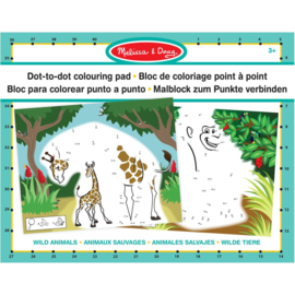 Melissa & Doug I Dot-To-Dot Colouring Pad | Wild Animals