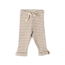 Nixnut   Rib Legging Stripe   Biscuit - Dust