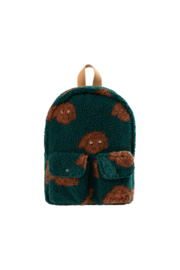 Tiny Cottons | Tiny Dog Small Sherpa Backpack | Dark Green - Sienna