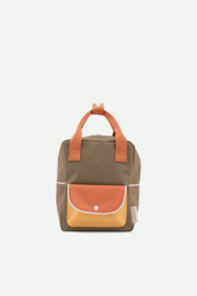 Sticky Lemon | Backpack Small | Wanderer | Seventies Green + Faded Orange + Retro Yellow