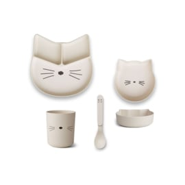 Liewood | Bamboo Box Junior Set  | Cat | Creme de la creme