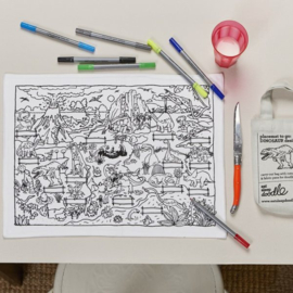 Eat Sleep Doodle 'placemat to o'dino design