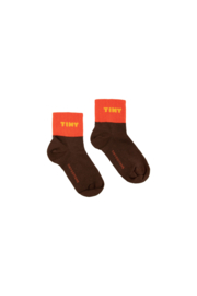 Tiny Cottons | Tiny Quarter Socks | Ultra Brown - Red