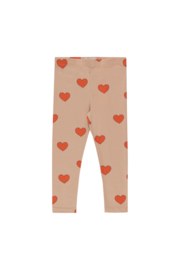 Tiny Cottons | Hearts Pants | Light Nude - Red