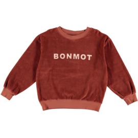 Bonmot | Sweatshirt Velvet Bonmot | Rust