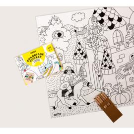 OMY | Colouring Pocket | Princesses & Dragon