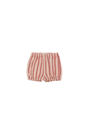 Tiny Cottons | Retro Stripes Baby Balloon Short | Light Nude - Dark Brown