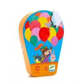 Djeco | Silhouette Puzzle | The Hot-Air Balloon | 16 stuks