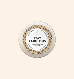 The Gift Label | Lip Balm | Stay Fabulous