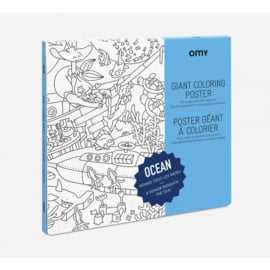 OMY | Giant Coloring Poster | Ocean