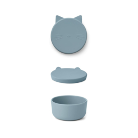 Liewood | Cornelius Snack Box | Cat | Sea Blue