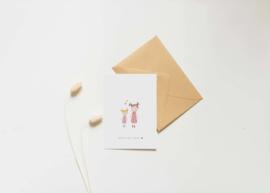 Kaart | Nadine Illustraties | Hoera een zusje
