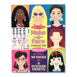 Melissa & Doug I Stickerboek met herbruikbare stickers I Face