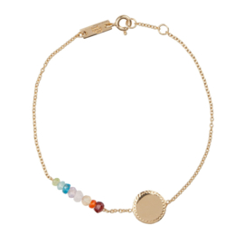 Lennebelle | She's a Rainbow mother bracelet gold plated