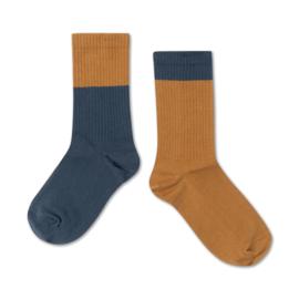 Repose Ams | Socks | Dark Navy Golden Block