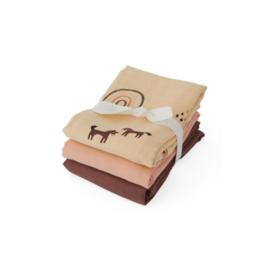 Oyoy Living Design| Muslin square | Rainbow 3 pack | Rose