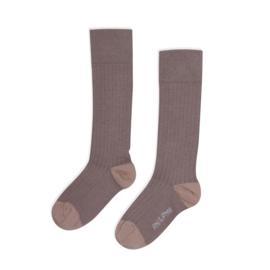 Phil & Phae | Ripped Knee Socks | Heather