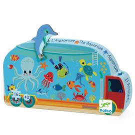 Djeco | Silhouette Puzzle | The Aquarium | 16 stuks