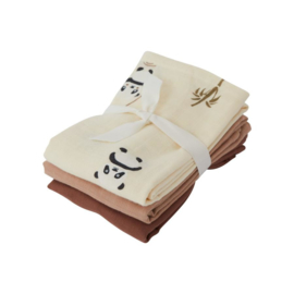 Oyoy Living Design| Muslin square | Panda 3 pack | Vanilla
