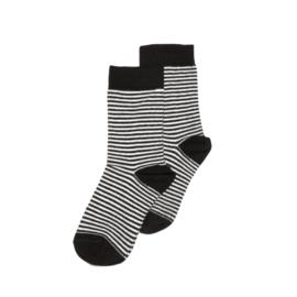 Mingo sokken, zwart/wit gestreept