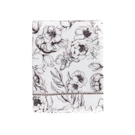 Mies & Co | Baby Crib Sheet | Bumble Love | Offwhite
