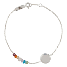 Lennebelle | She's a Rainbow mother bracelet silver