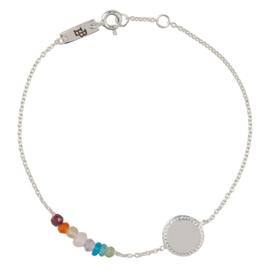 Lennebelle | She's a Rainbow mother bracelet silver
