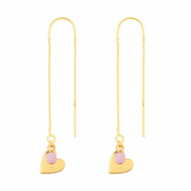 & Anne | Earring Heart & Pink