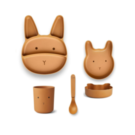 Liewood | Bamboo Box Junior Set  | Rabbit | Mustard