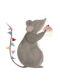 Getekenddoorzusje | Birthday Mouse