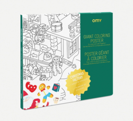 OMY | Giant Coloring Poster | Christmas Factory