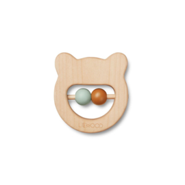 Liewood | Ivala Wood Teether | Mr Bear | Natural