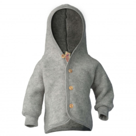 Engel Natur | Hooded Jacket | Light Grey Mélange