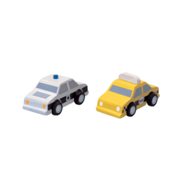 Plantoys | City Taxi & Police car