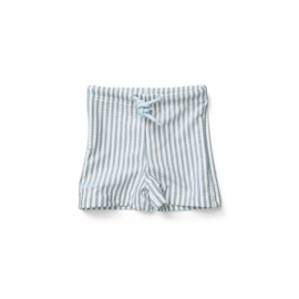 Liewood | Otto Swim Pants Seersucker | Stripe Sea Blue -  White