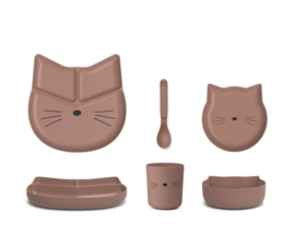 Liewood | Bamboo Box Junior Set  | Cat | Dark Rose