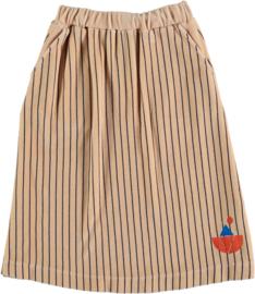 Bonmot | Skirt Velvet All Over Stripes | Fog